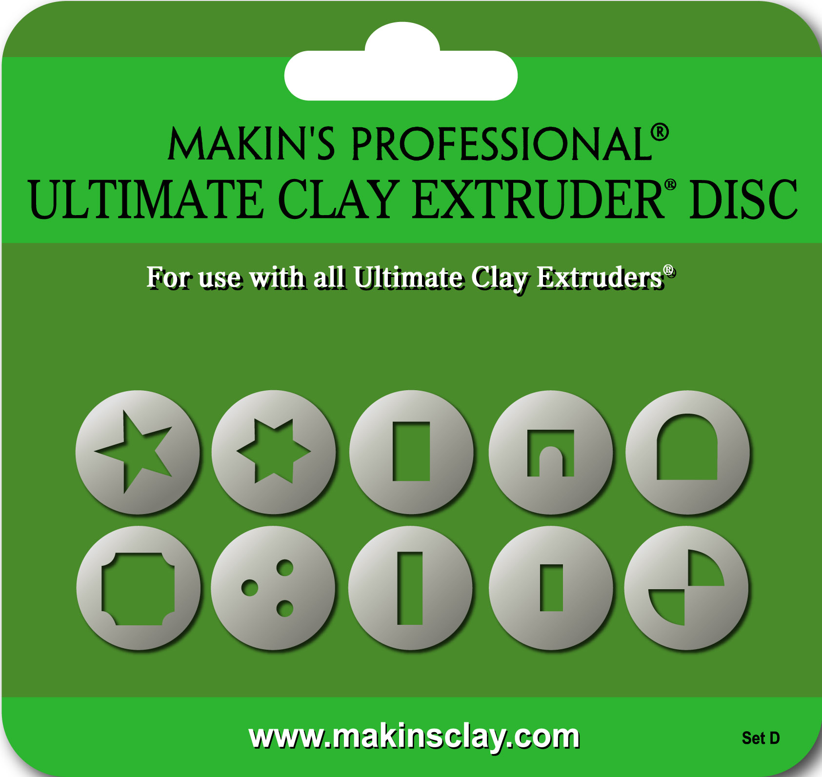 Makin's Ultimate Clay Extruder Disc Set D NEW