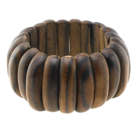 Bracelet Oval Link Brown Stretch
