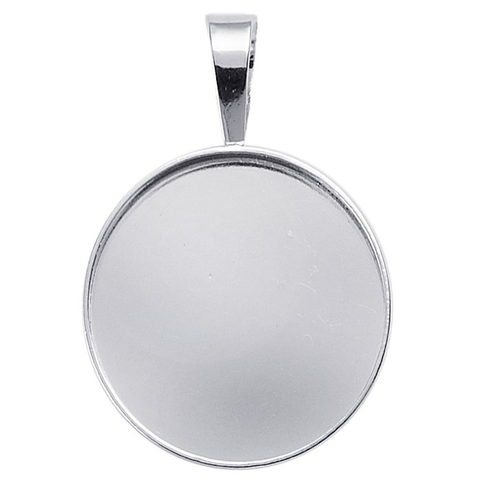 Sterling silver square bezel pendant setting 694200 1650 sterling silver 25mm round pendant setting aloadofball Gallery