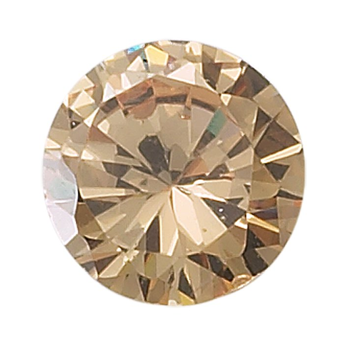 6mm Round CZ Champagne Faceted