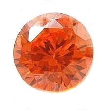 6mm Orange CZ Round Faceted