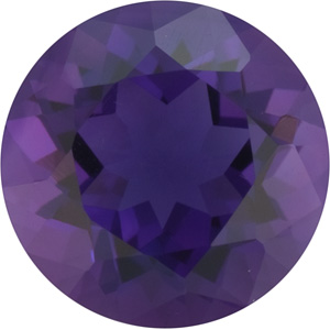 6mm Purple Round CZ Faceted