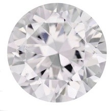 6mm Round CZ White Faceted