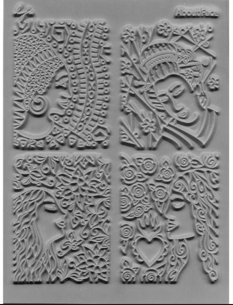 About Face Texture Tile by Lisa Pavelka