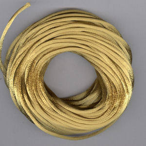Kumihimo Satin Cord 2mm Antique Gold