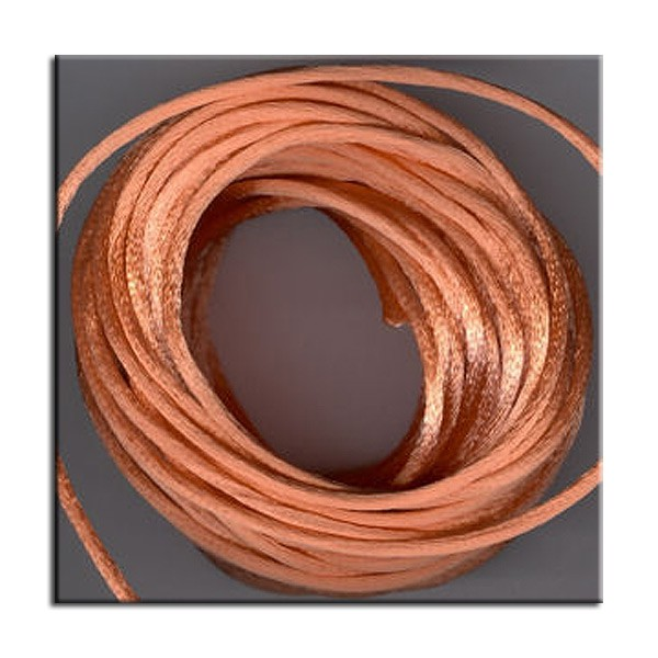 Kumihimo Satin Cord 2mm Peach