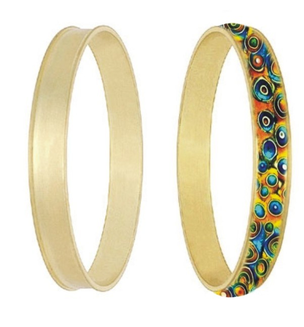 Bangle - inlay round channel (Medium channel)