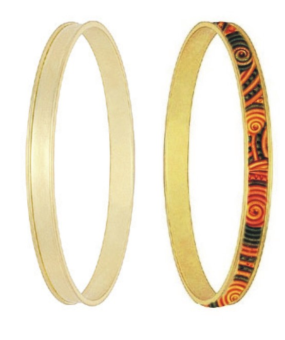 Bangle - inlay round channel (Thin channel)