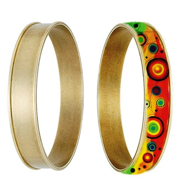 Bangle - inlay round channel (Wide channel)