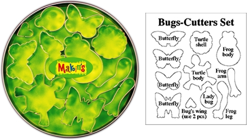 Bugs Clay Cutter Set