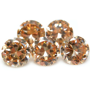 2mm Round Faceted Champagne x 10