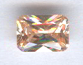 7x5 Emerald Cut Faceted Champagne