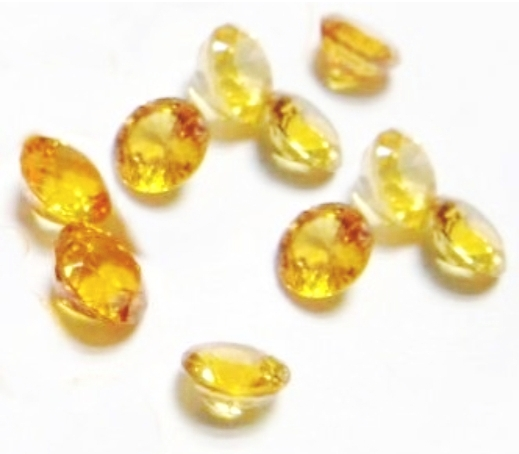 1.5mm Round Faceted Citrine x 10