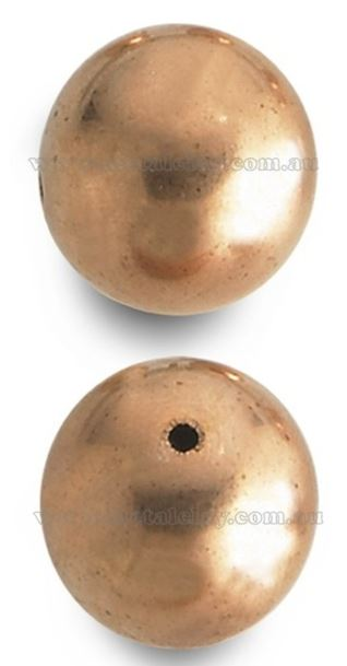 Copper Bead Smooth Round 22.2mm x 1 Single piece