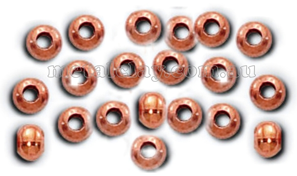 Copper Beads Smooth Rondell 4mm x 25 Pieces