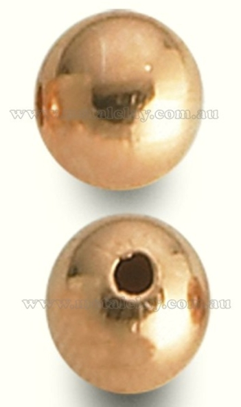 Copper Beads Smooth Round 16mm x 10 pieces