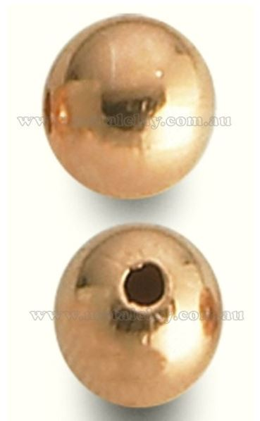 Copper Bead Smooth Round 16mm x Single