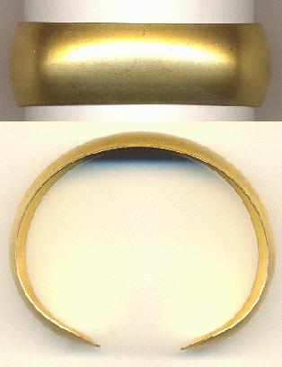 Brass Bracelet Cuff Domed Surface 2cm (1 Pair)