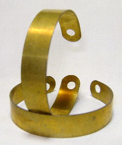 Brass Bracelet Cuff with End Holes 1.1cm (1 Pair)