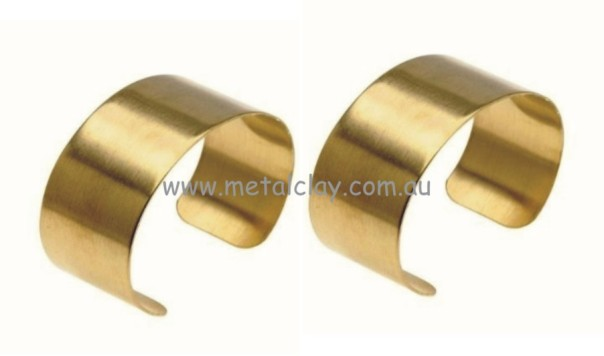 Cuff Bracelet Base Brass - Flat x 2 25mm Wide