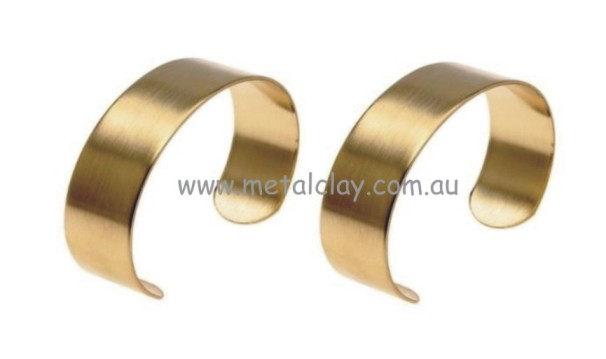 Cuff Bracelet Base Brass - Flat 19mm Wide x 2