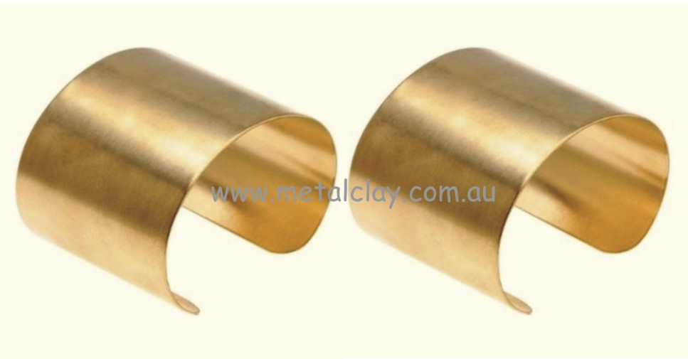 Cuff Bracelet Base Brass - Flat x 2 50mm Wide
