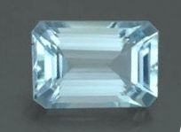 7x5 Emerald Cut Faceted Aquamarine