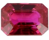 7x5 Emerald Cut Faceted Ruby