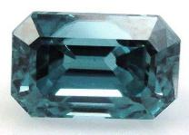 7x5 Emerald Cut Faceted Zircon