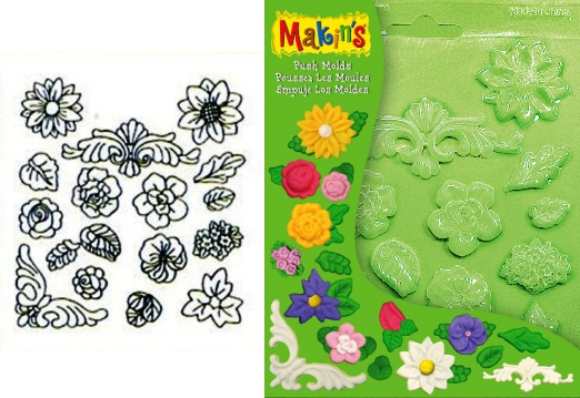 Push Moulds - Floral