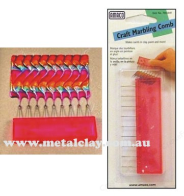 Friendly Plastic Marbling Comb