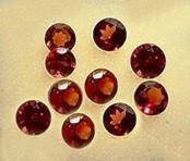 1.5mm Round Faceted Almandine Garnets x 10
