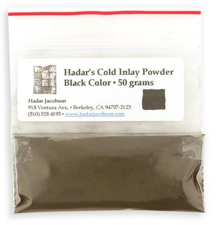 Hadars Cold Inlay Powder BLACK
