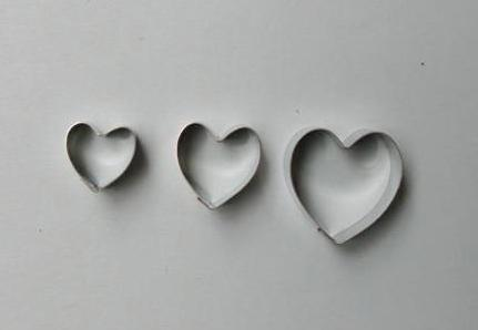 Heart Cutter Set of 3 small