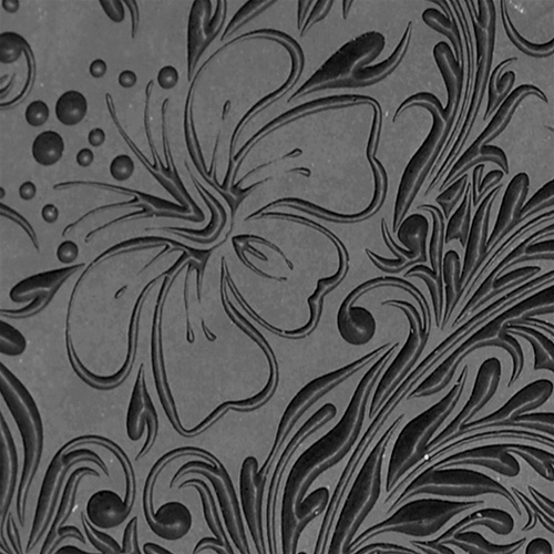 Hibiscus Embossed Texture Tile