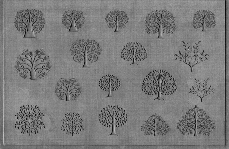 Tree of Life Embossed Element Texture Sheet - Large
