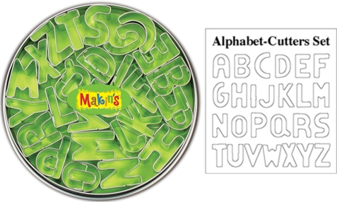 Makins Alphabet Clay Cutter Tin Set