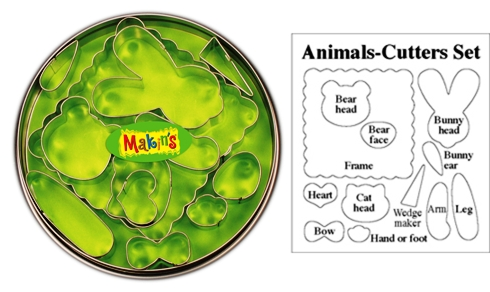 Makins Animal Clay Cutter Tin Set