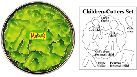 Makins Children Clay Cutter Tin Set