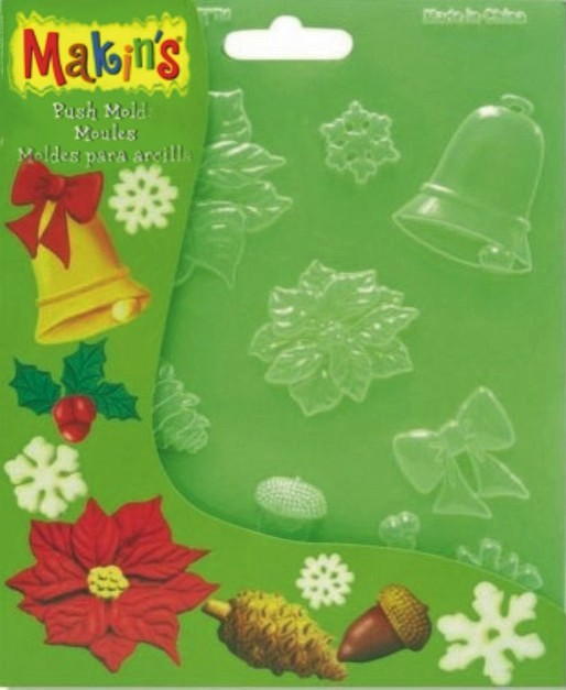 Makins Push Mould - Christmas Nature