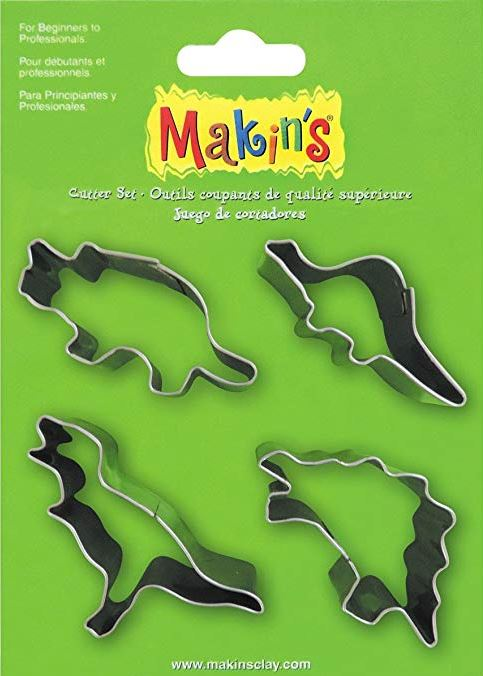 Makins Dinosaur Cutters Set of 4 NEW