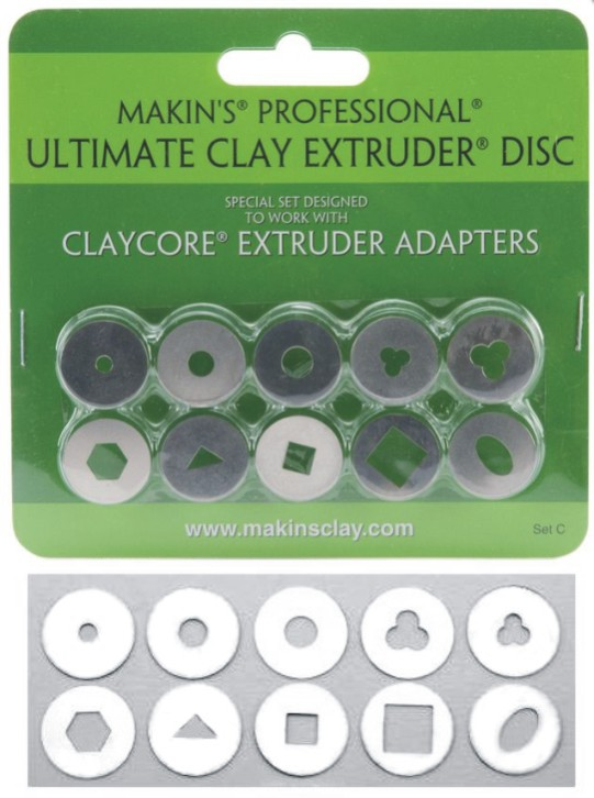 Makin's Ultimate Clay Extruder Disc Set C NEW
