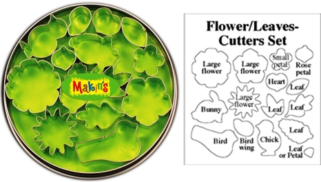 Makins Flower and Leaf Clay Cutter Tin Set