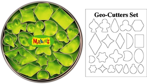 Makins Geo Clay Cutter Tin Set