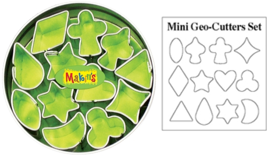 Makins Mini Geo Clay Cutter Tin Set