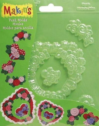 Makins Push Moulds - Hearts