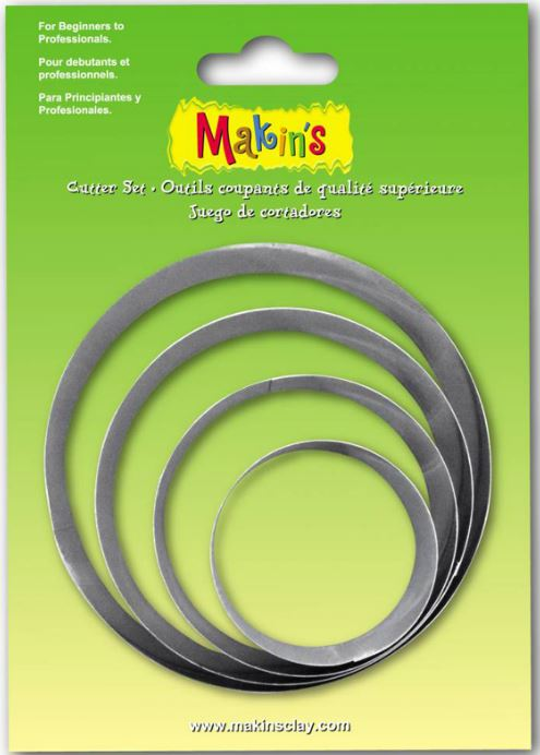 Makins Round Cutter Set of 4 (NEW Large sizes)