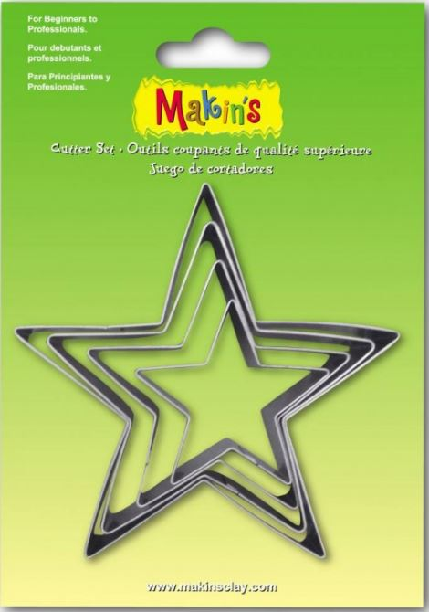 Makins Star Cutter Set of 4 (NEW Large sizes)