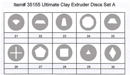 Makins Ultimate Clay Extruder Disc Set A