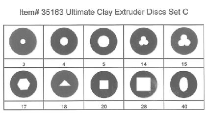 Makin's Ultimate Clay Extruder Disc Set C